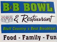 National Trout Center - Support - Become a Business Member - B&B Bowl and Restaurant, Preston, MN